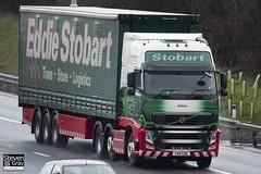 Volvo FH 6x2 Tractor - PX11 CDZ - Sabina - Eddie Stobart - M1 J10 Luton - Steven Gray - IMG_7932