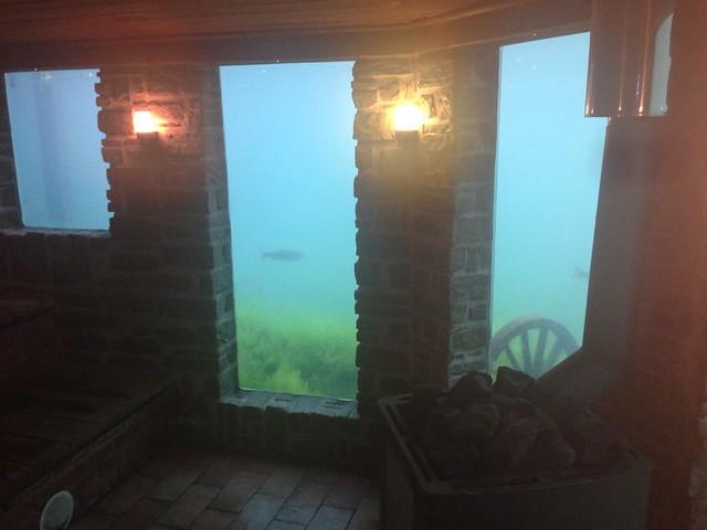 Sauna bajo el agua