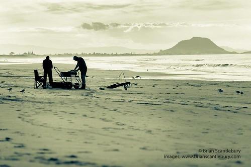 #silhouette #fishermen preparing longline for launching on Papamoa Beach #papamoa #papamoabeach #tauranga #taurangaimages #taurangaphotos #newzealand #newzealandimages  #newzealandandphotography #brianscantlebury #brianscantleburyphotos #www.brianscantleb