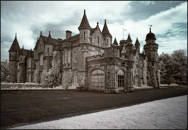 Balmoral Castle in Infrared