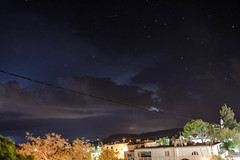 Πρωτοβρόχια στην Ψίνθο - Πέρασμα νυχτερινής καταιγίδας με αστραπές, κεραυνούς !