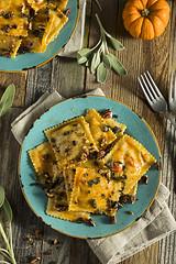 Homemade Pumpkin Ravioli with Butter Sauce