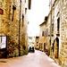 Piccola città di San Gimignano (ITA)