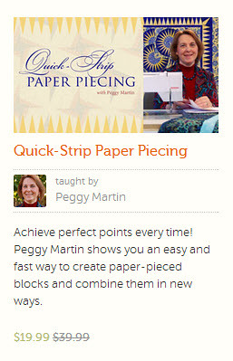 quick strip paper piecing class taught by peggy martin at Craftsy