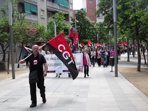 manifestació cgt a mollet del vallès #1maig2013 #1demayo #1emaig