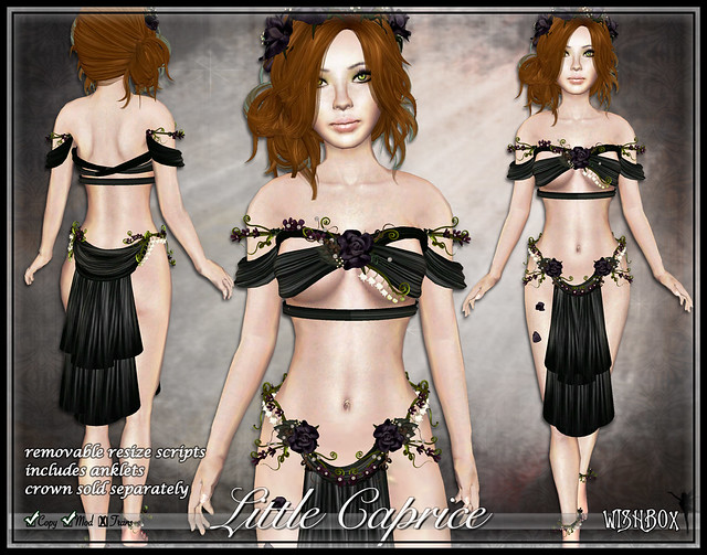 Caprice Fairy Silks (Black/Purple) Second Life Silks Fantasy