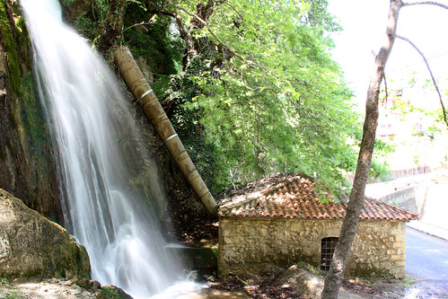 green water waterfall fthiotis