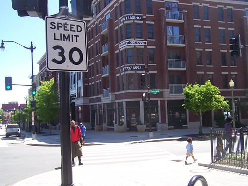 30 mph speed limit sign, 3800 block of Georgia Avenue NW, 1/2 block from the Petworth Metro