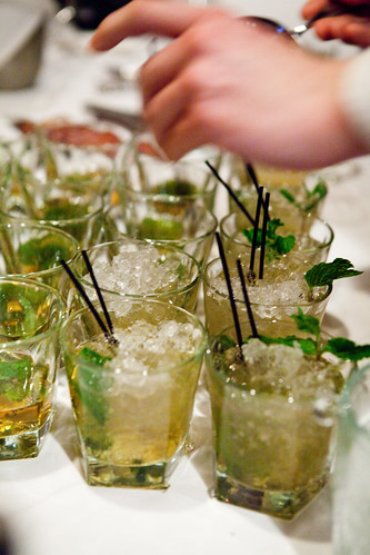 Making Mint Julep
