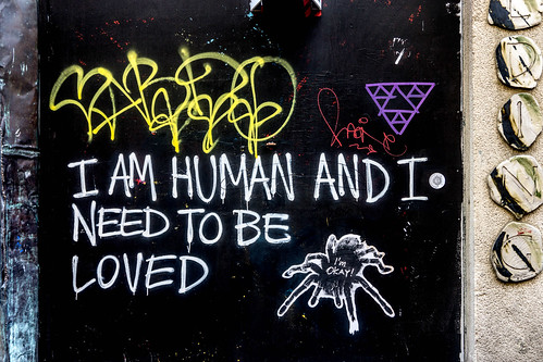 "Dublin Street Art - ""I Am Human And I Need To Be Loved"" by infomatique"