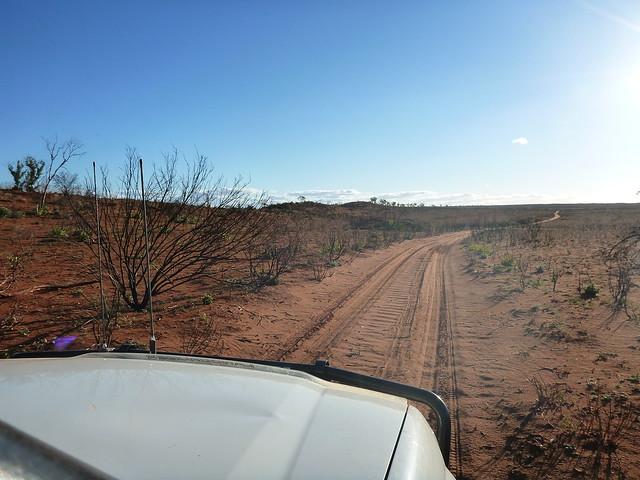 Desert road driving