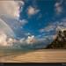 Deserted beach in Zanzibar