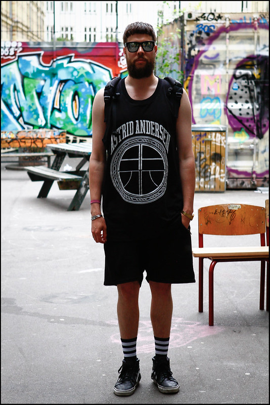 Tuukka13 - Greetings from Copenhagen - WDYWT - Vans, Asger Juel Larsen Shorts, Astrid Andersen for Storm Tank Top and Supreme 2007 Backpack -2