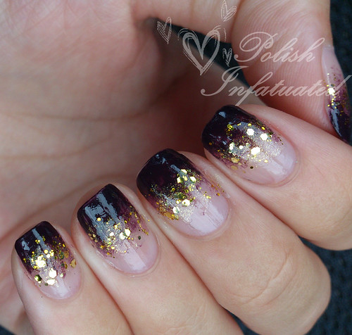 purple and gold glitter gradient