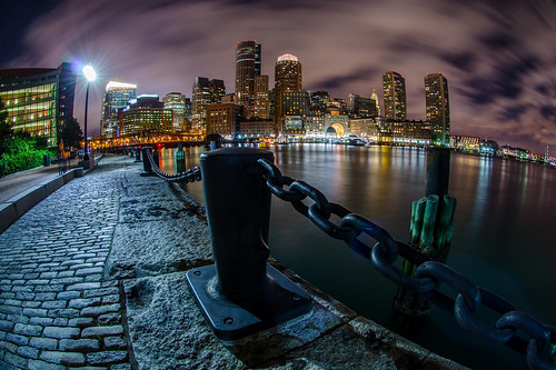 longexposure travel usa boston skyline nikon cityscape waterfront cloudy massachusetts fisheye southboston harborfront bostonharbor 105mmf28gfisheye d7000