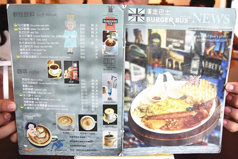 台中漢堡巴士菜單menu價位06