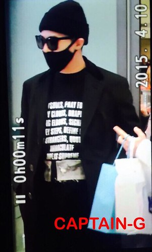 Big Bang - Incheon Airport - 10apr2015 - G-Dragon - Captain G - 01