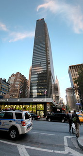 vertical panorama of One Penn Plaza from 8th Avenue