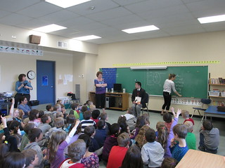 Alan Woo taking questions at Winchelsea Elementary in Parksville