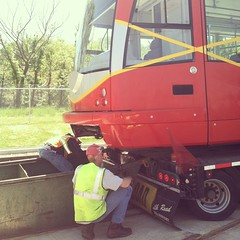 Getting Streetcar #2 on the Tracks