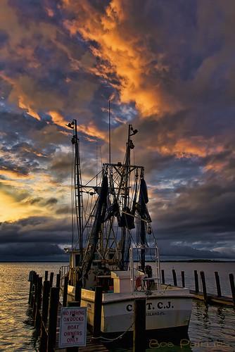 sunset gulfofmexico clouds florida shrimpboat matlacha pineisland pineislandsound