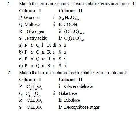 AIPMT Question Bank Biology - Biomolecules
