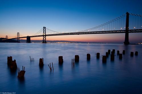 bridge blue sunrise bay hour pillars