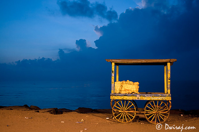 The yellow cart...