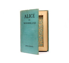 Vintage Alice in Wonderland Hollow Book