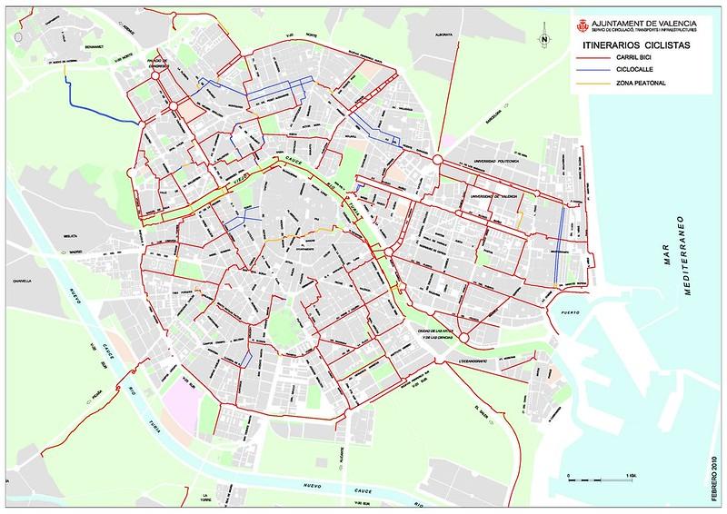 Mapa Ciclovias Valencia