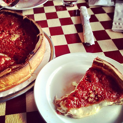 Chicago deep dish. Wow. Best pizza I've ever had! #chicago #pizza #food #giordanos