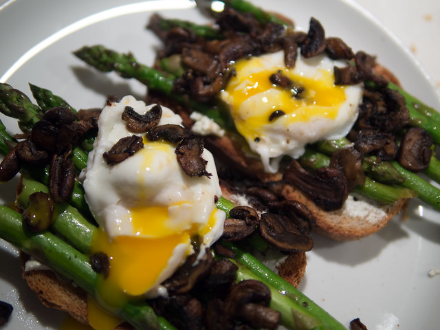 Asparagus and Poached Egg Open Faced Sandwich Recipe Egg Asparagus