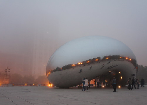 Cloudy Cloud Gate