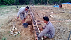 soil, foundation, bricklayer, construction,