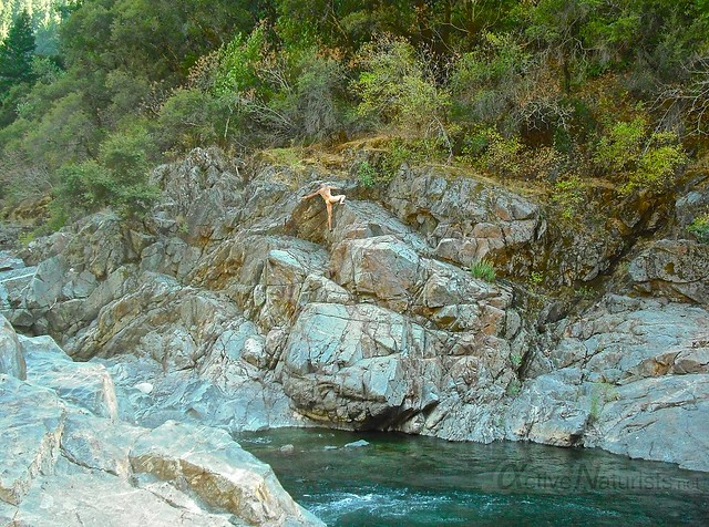 naturist bouldering 0001  South Yuba River, CA, USA