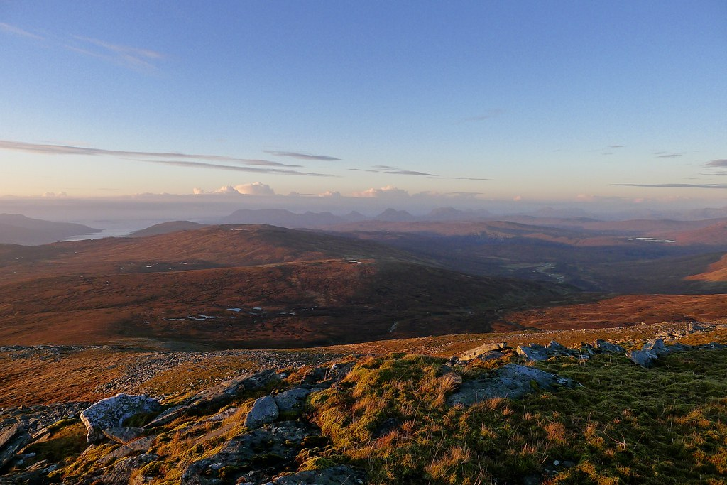 Assynt hills at sunset