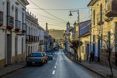 sucre bolivia southamerica sunset