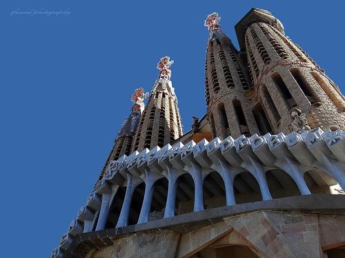 The Sagrada Familia, different outside aspects (Barcelona)