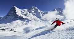 Jungfrau: lyžování pod krásnými štíty Mönch, Eiger a Jungfrau