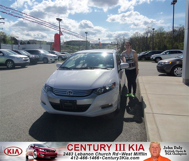 century 3 kia would like to say congratulations to taylor rowland on the 2010 honda insight. Black Bedroom Furniture Sets. Home Design Ideas