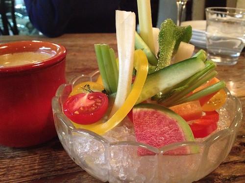 彩り野菜のバーニャカウダー@恵比寿のパンダ