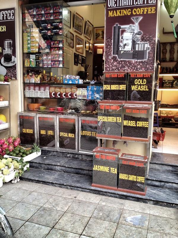 Kaffeestand in Hanoi