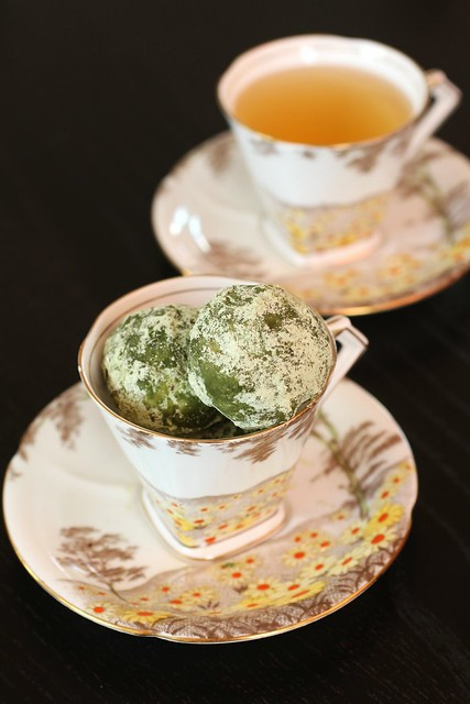 Green Tea Pecan Crumbles in tea cup 2
