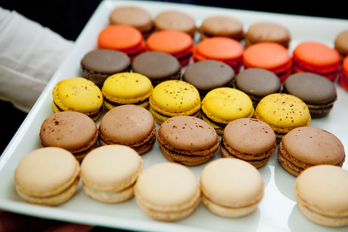 Platter of macarons