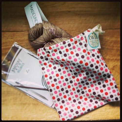 My little haul from Twill Fabric & Yarn yesterday #yarn #projectbag #knitting #Madelinetosh