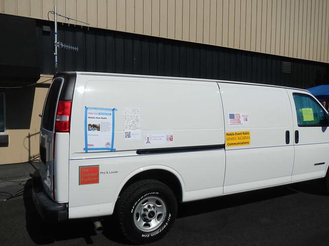 Van and TV antennas