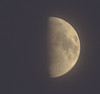 Waxing Gibbous Moon through clouds 18 May 2013