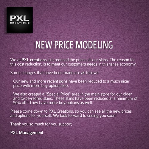 [PXL] New price model