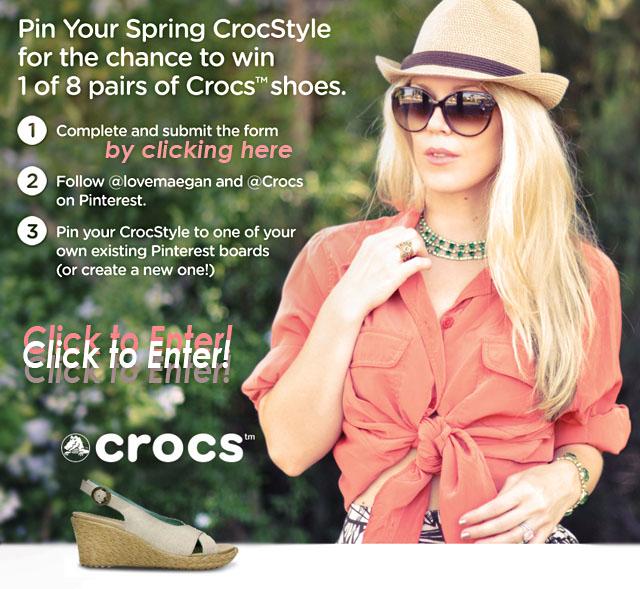 crocs-maegan-pinterest giveaway