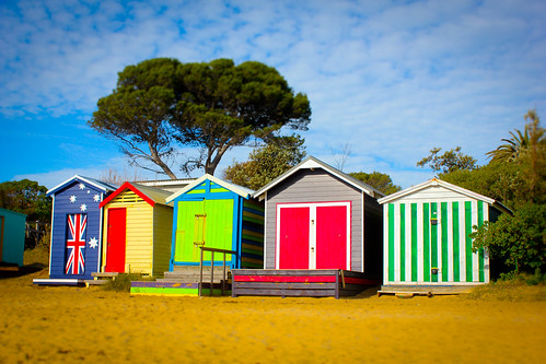 Beach Huts at Mornington VIC